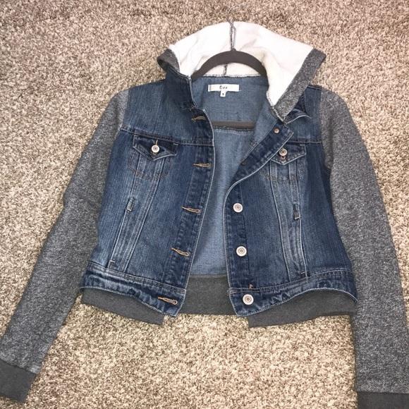 9058a74213 dex Jackets   Blazers - Jean jacket sweatshirt